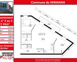 Cap construction appartement T3 Sérignan