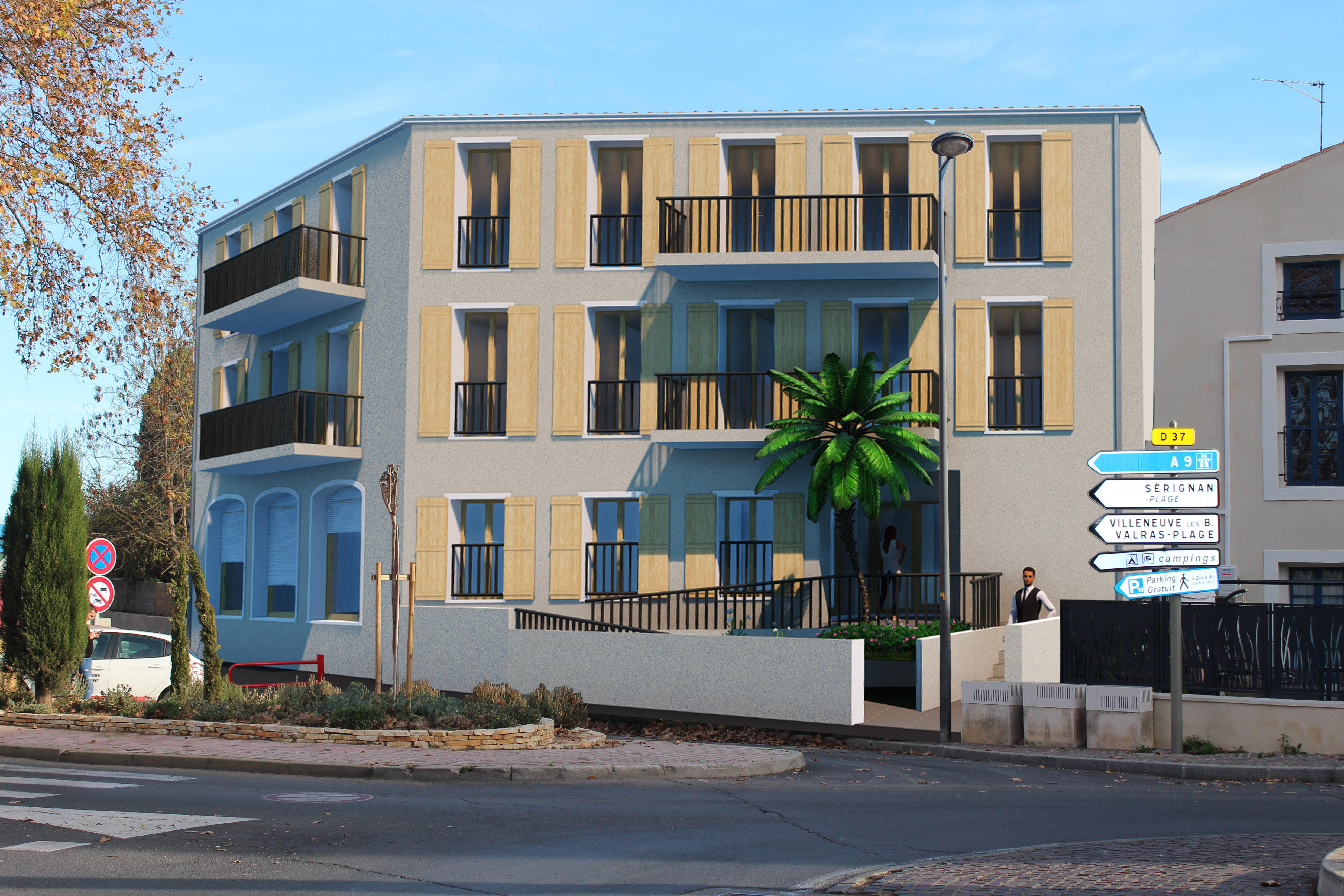 Travaux en cours d'un immeuble à Sérignan - Lots à vendre